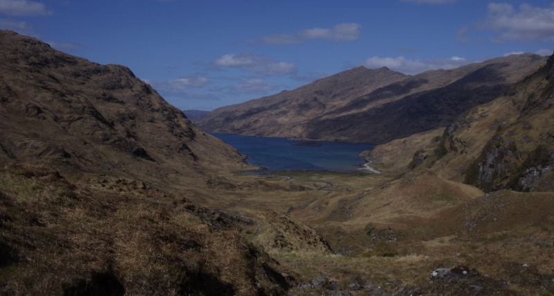 La mer depuis le col de Lochan a Mhaim