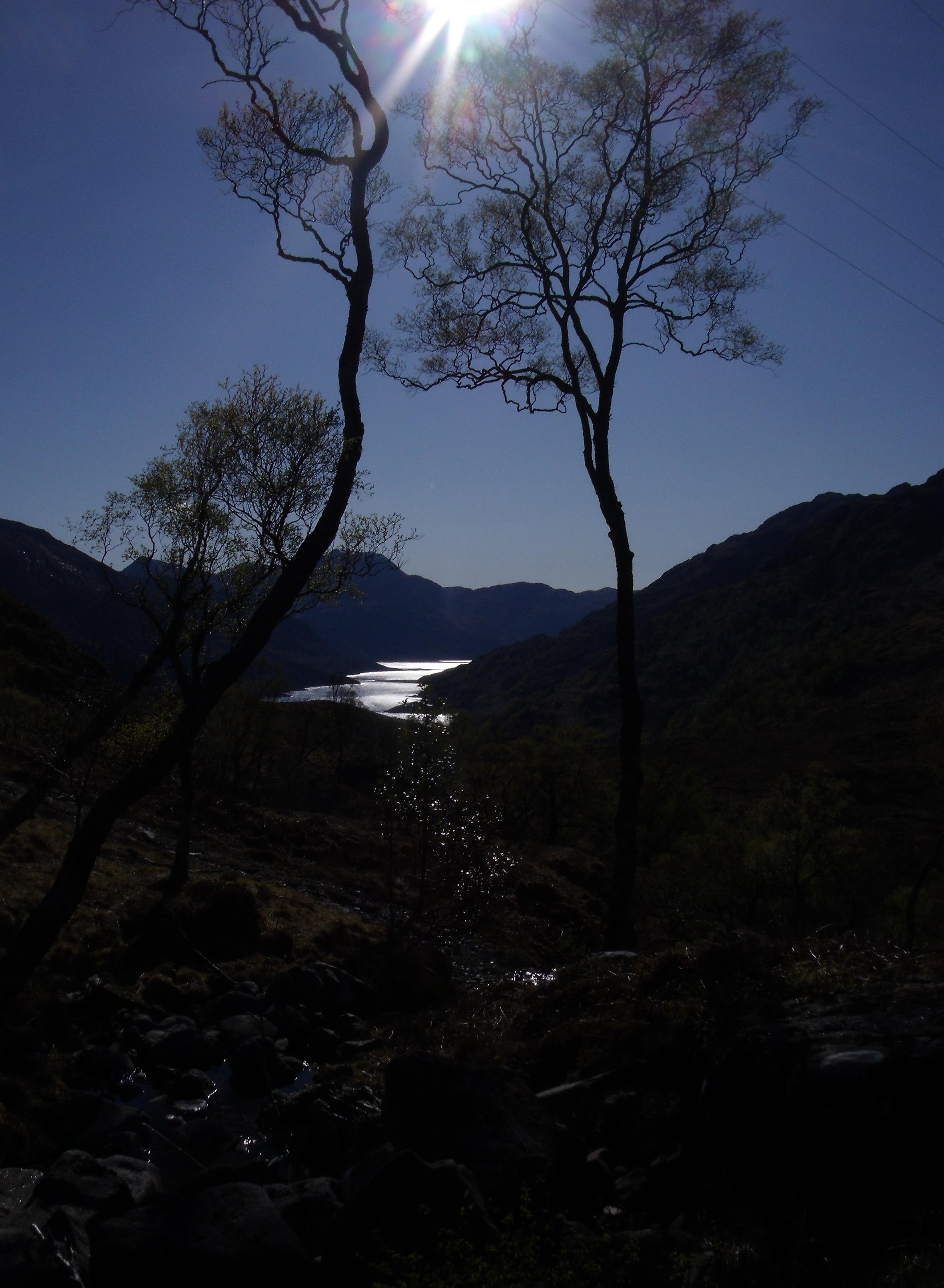 Coucher de soleil sur les lochs