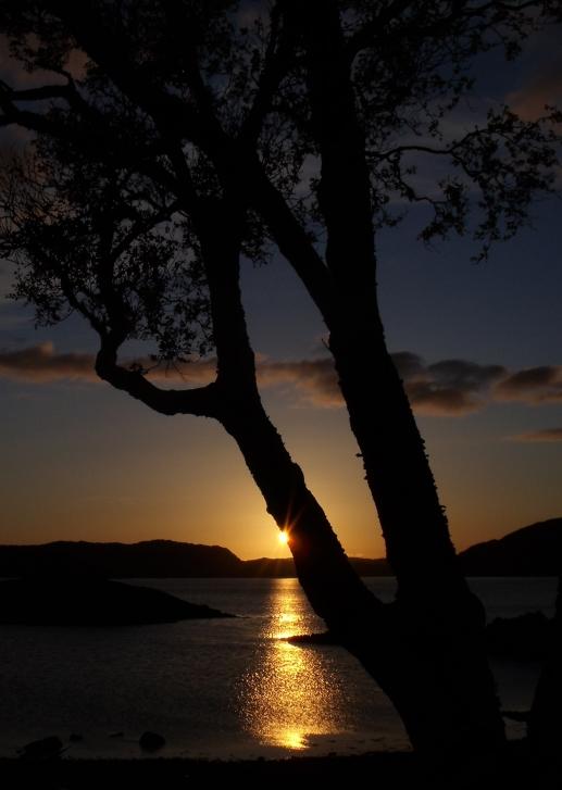Coucher de soleil au Glencoul Bothy