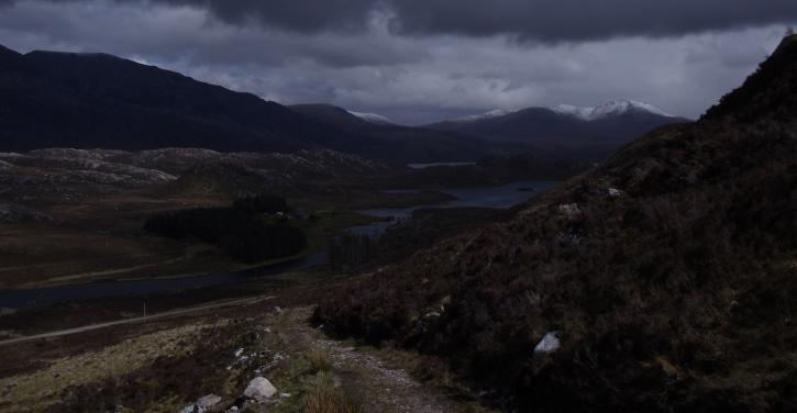 Lochstack Lodge, au loin.